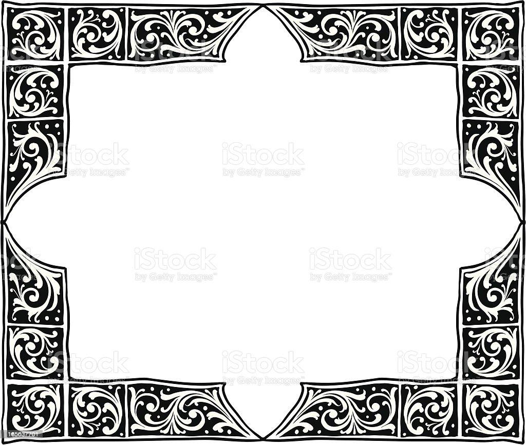 アンティークのコーナー素朴なフレーム のイラスト素材 165637701 | istock