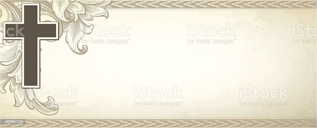 Antique Cross Banner royalty-free stock vector art
