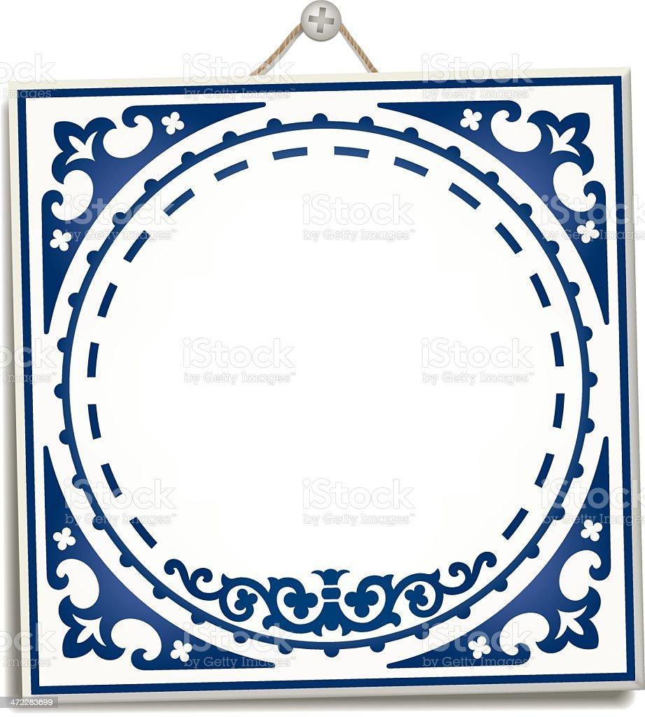 Antique Dutch Delft Blue tile royalty-free antique dutch delft blue tile stock vector art & more images of antique