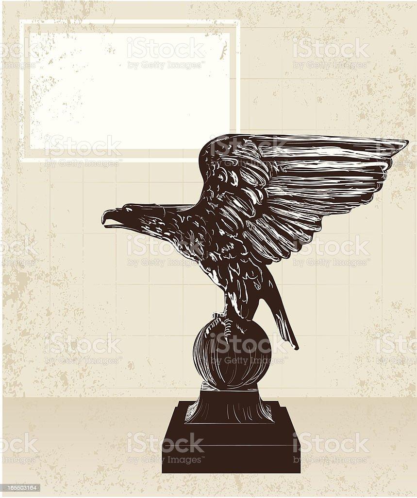 Antique Eagle Frame royalty-free stock vector art