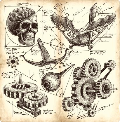 antique engineering drawings