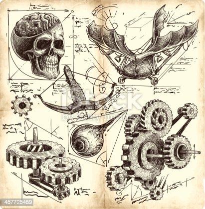 istock antique engineering drawings 457725489