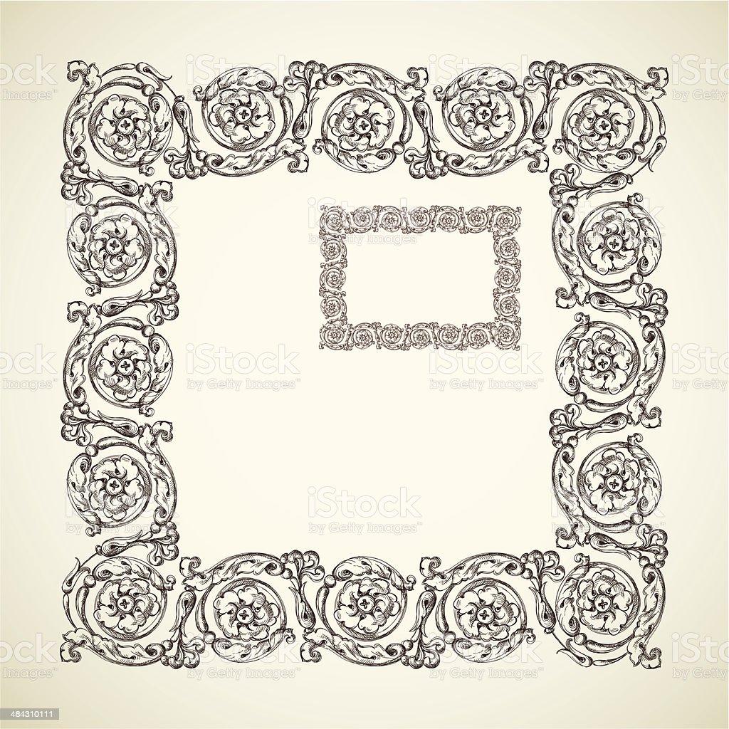 アンティークのフレーム のイラスト素材 484310111 | istock