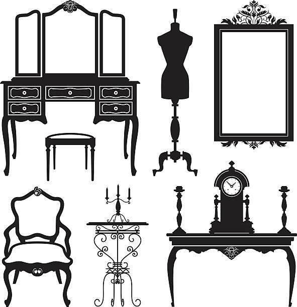 ilustrações de stock, clip art, desenhos animados e ícones de mobiliário antigo - sideboard