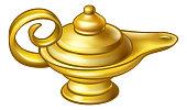 Antique Gold Aladdin Magic Lamp