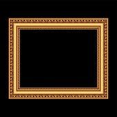 Golden antique frame for your picture. Vector illustration