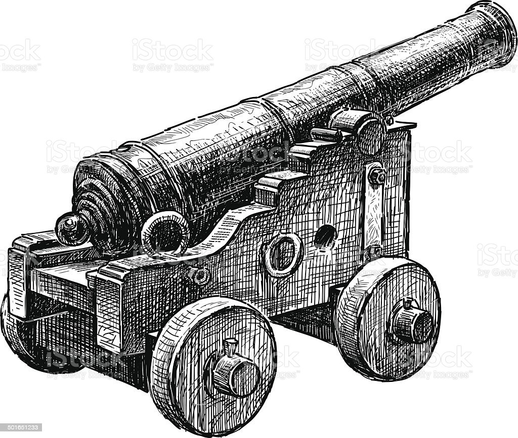Pistolet antique - clipart vectoriel de Armement libre de droits