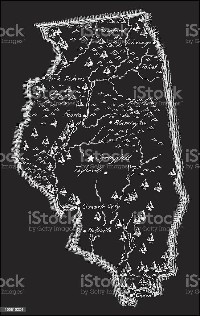 Antique Illinois Map royalty-free antique illinois map stock vector art & more images of ancient