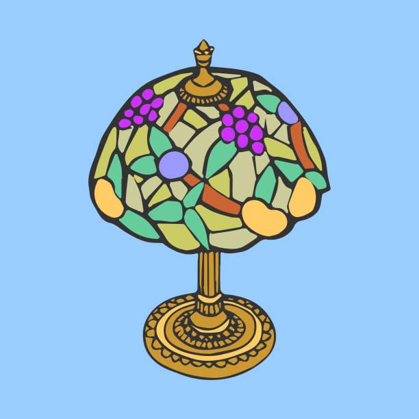 Antique Lamp vector art illustration