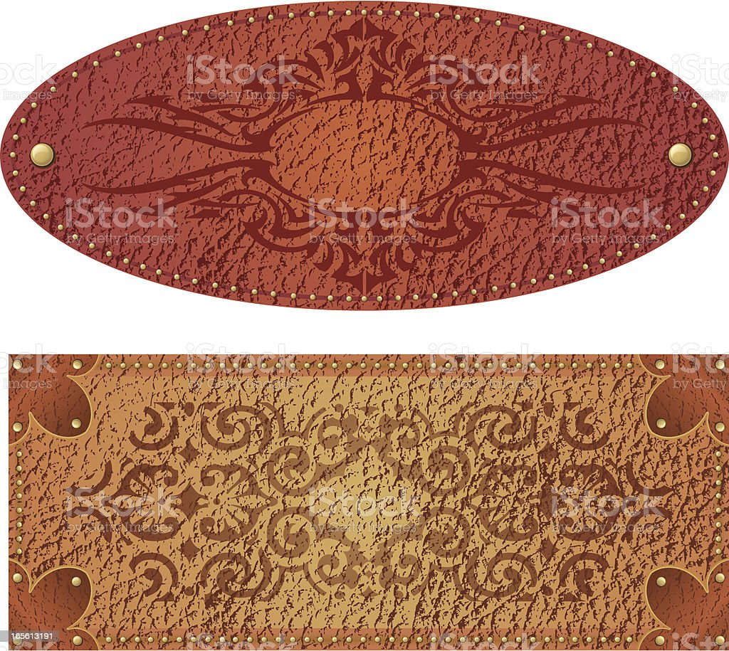 Antique Leather Stamped royalty-free stock vector art