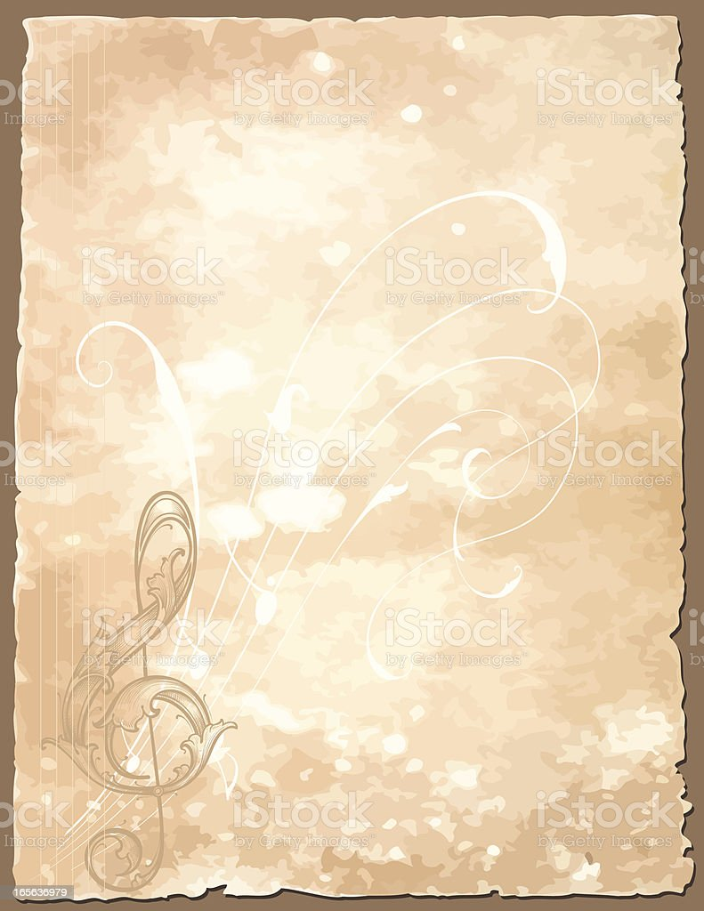 Antique Musical Notation - Background Wallpaper royalty-free stock vector art