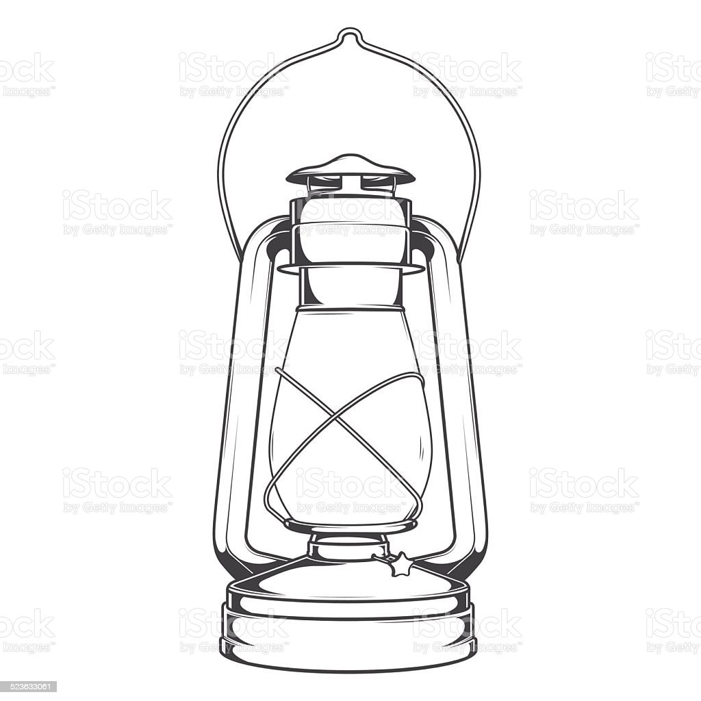antique old kerosene lamp stock vector art  u0026 more images of ancient 523633061