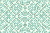 istock Antique Scroll Pattern Hand Drawn Seamless  Vector 1256791679
