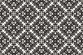 istock Antique Scroll Pattern Hand Drawn Seamless  Vector 1256791682