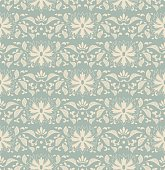 Antique seamless background botanic garden nature leaf flower chintz