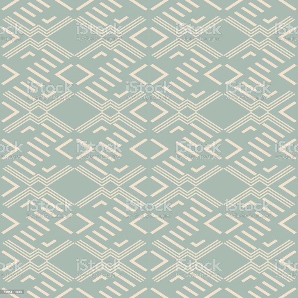 Antique seamless background Diamond Check Cross Geometry Frame - Grafika wektorowa royalty-free (Adamaszek)