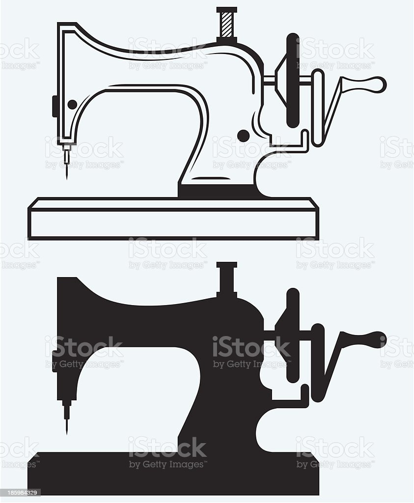 Antique Sewing Machine royalty-free stock vector art