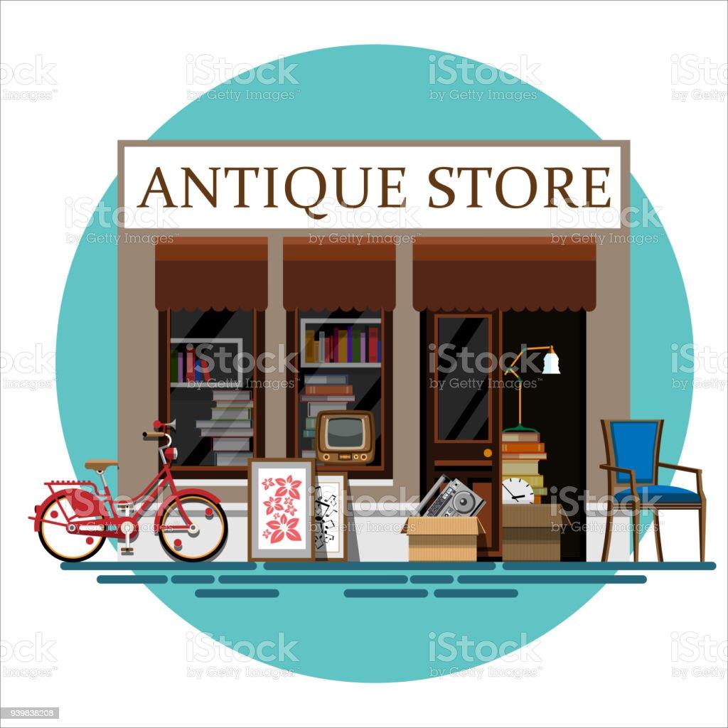 Magasin d'antiquités - Illustration vectorielle