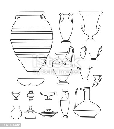 istock Antique Tableware and Vases 1291809684