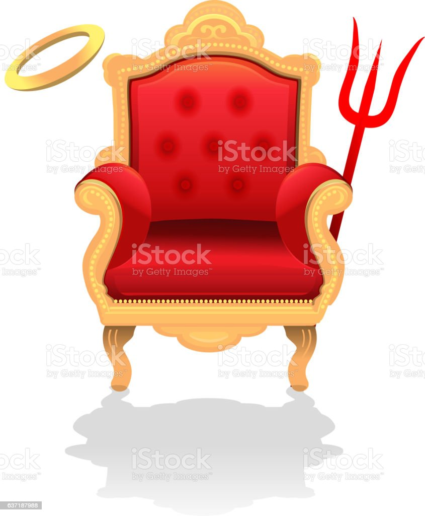 Antique Throne Chair Angel Vs Devil Concept Royalty Free Antique Throne  Chair Angel Vs Devil