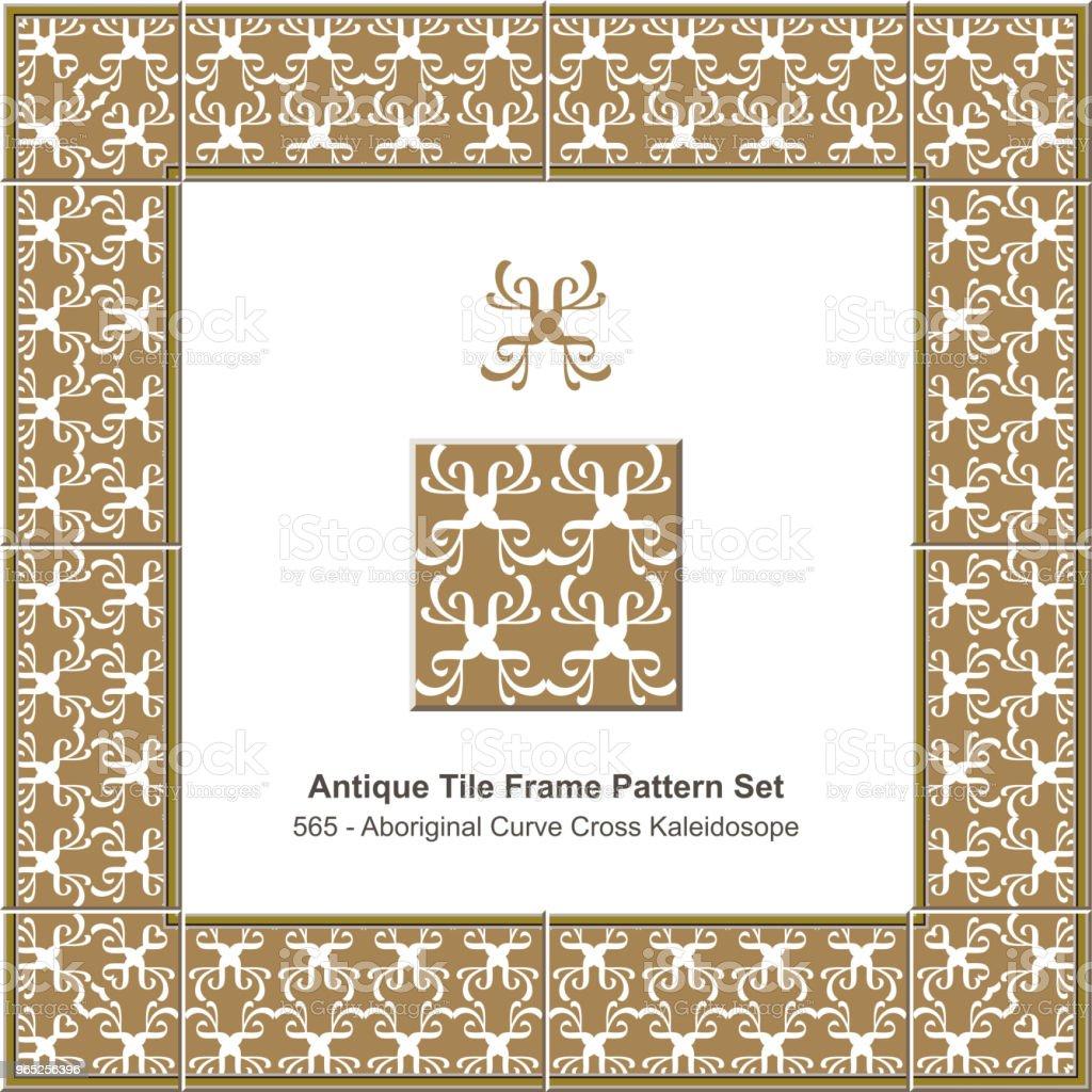 Antique tile frame pattern set aboriginal curve cross geometry kaleidoscope antique tile frame pattern set aboriginal curve cross geometry kaleidoscope - stockowe grafiki wektorowe i więcej obrazów antyczny royalty-free
