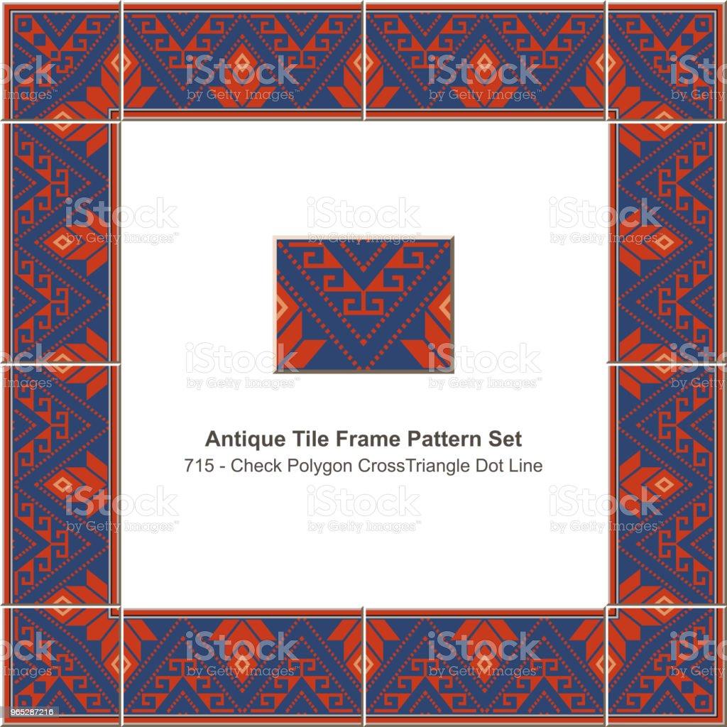 Antique tile frame pattern set check polygon cross triangle dot line royalty-free antique tile frame pattern set check polygon cross triangle dot line stock vector art & more images of antique