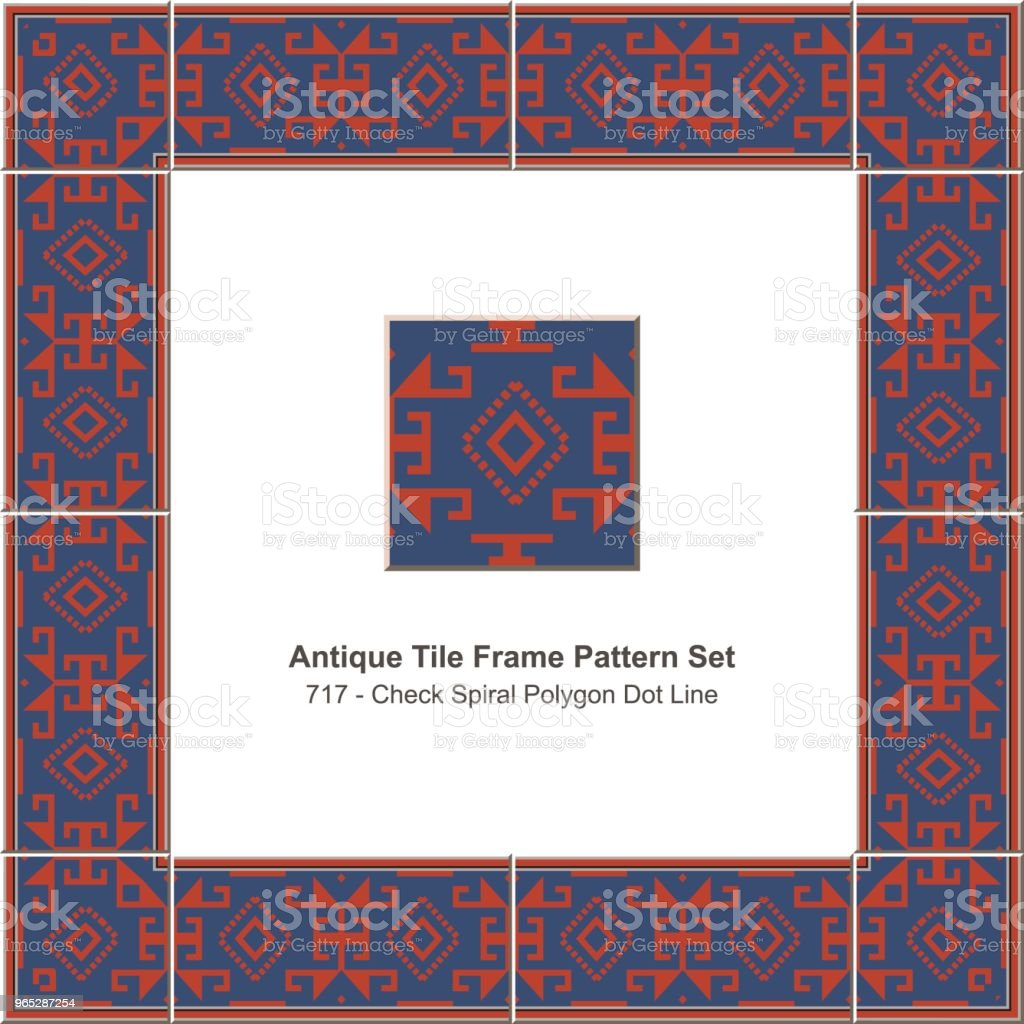 Antique tile frame pattern set check spiral polygon dot line royalty-free antique tile frame pattern set check spiral polygon dot line stock vector art & more images of antique