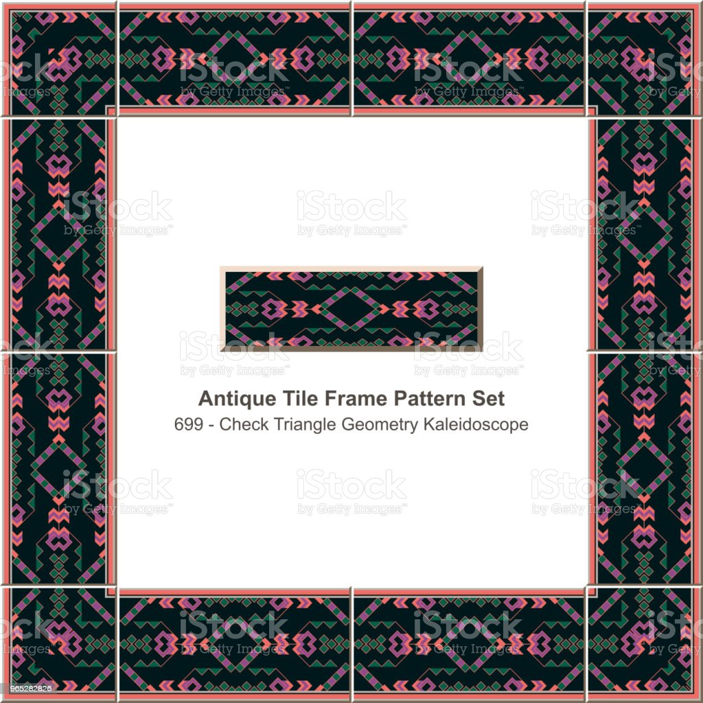 Antique tile frame pattern set check triangle geometry kaleidoscope royalty-free antique tile frame pattern set check triangle geometry kaleidoscope stock vector art & more images of antique