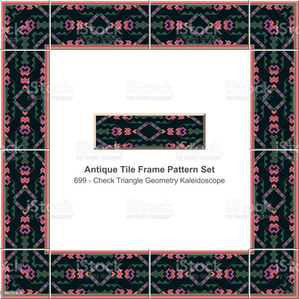 Antique tile frame pattern set check triangle geometry kaleidoscope antique tile frame pattern set check triangle geometry kaleidoscope - stockowe grafiki wektorowe i więcej obrazów antyczny royalty-free
