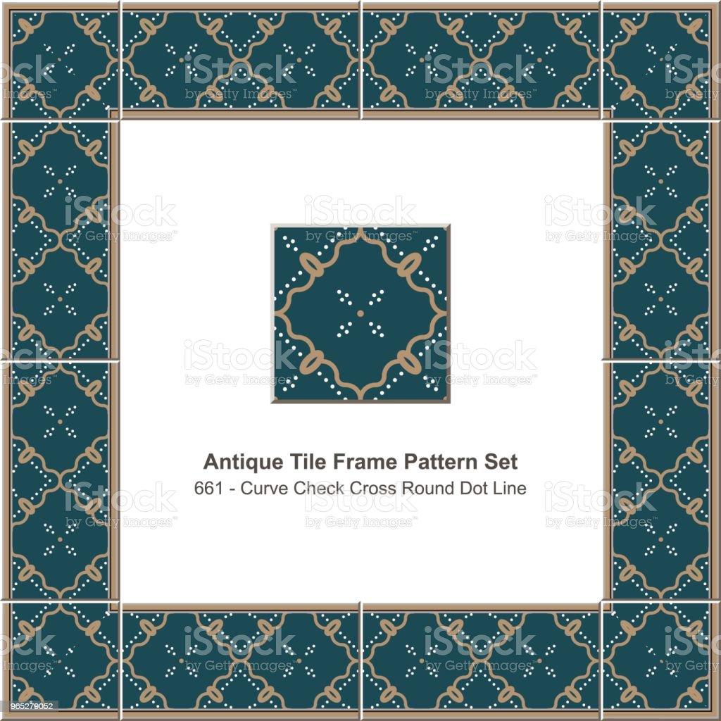 Antique tile frame pattern set curve check cross round dot line royalty-free antique tile frame pattern set curve check cross round dot line stock vector art & more images of antique