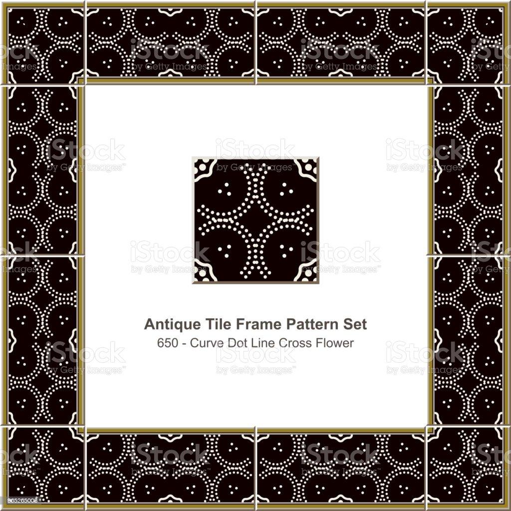 Antique tile frame pattern set curve dot line cross flower royalty-free antique tile frame pattern set curve dot line cross flower stock vector art & more images of antique