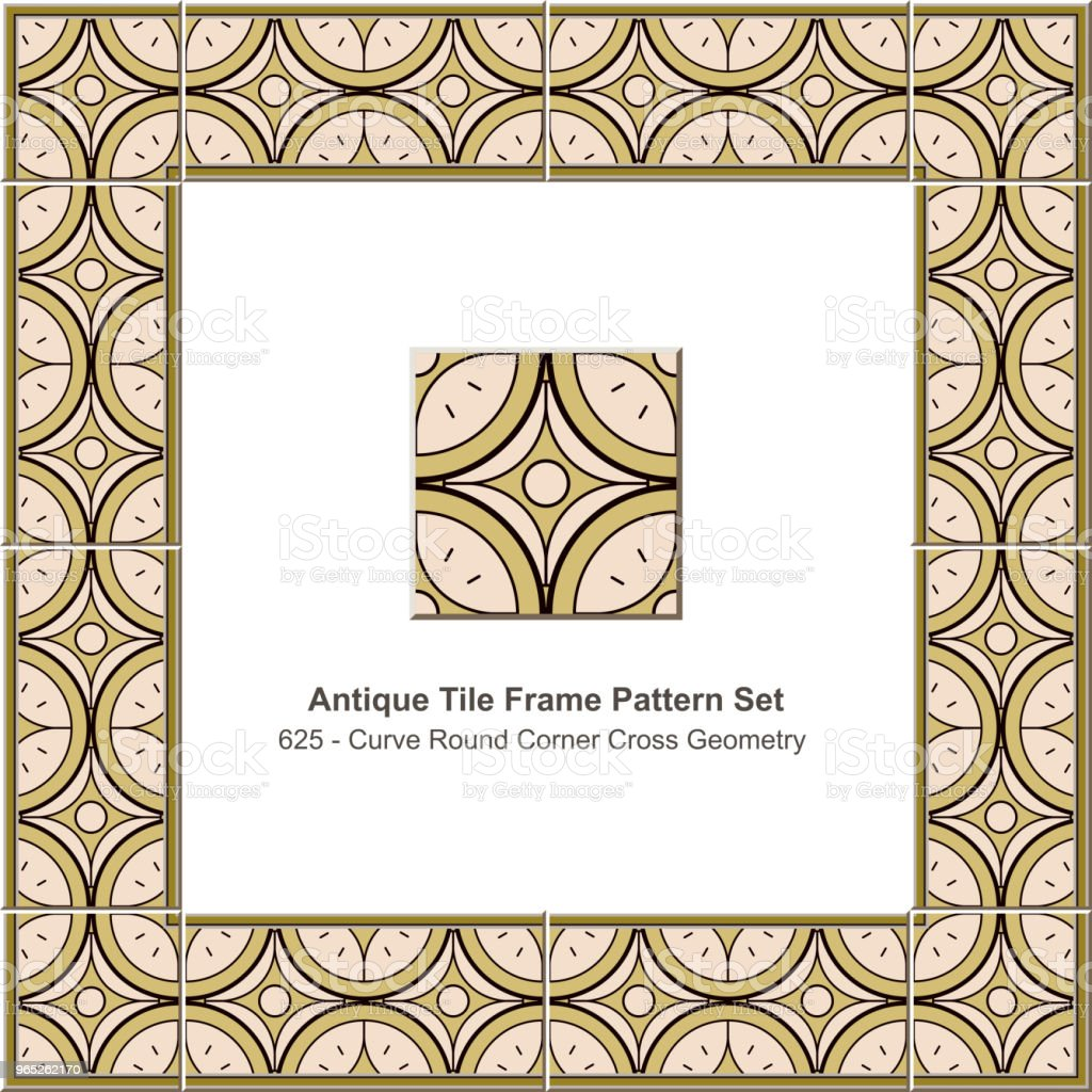 Antique tile frame pattern set curve round corner cross star geometry royalty-free antique tile frame pattern set curve round corner cross star geometry stock vector art & more images of antique