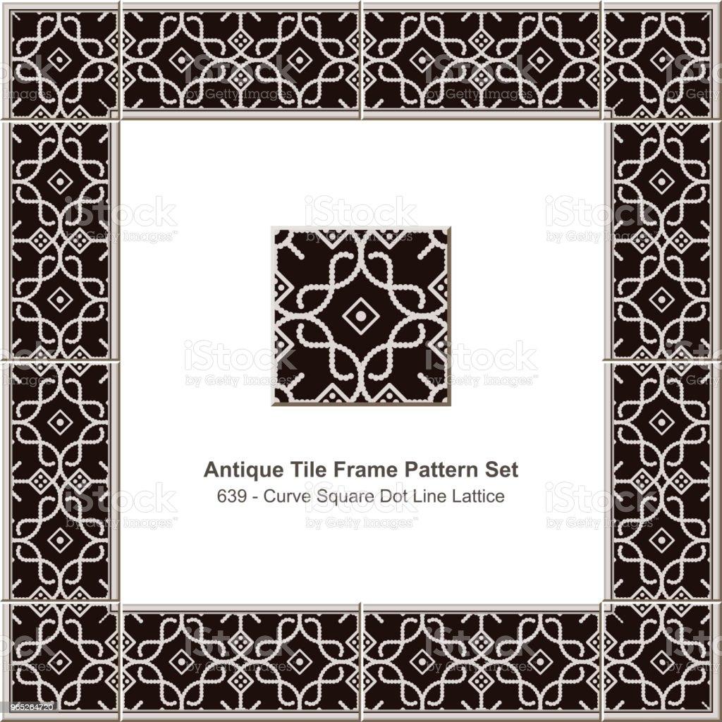 Antique tile frame pattern set curve square dot line lattice royalty-free antique tile frame pattern set curve square dot line lattice stock vector art & more images of antique