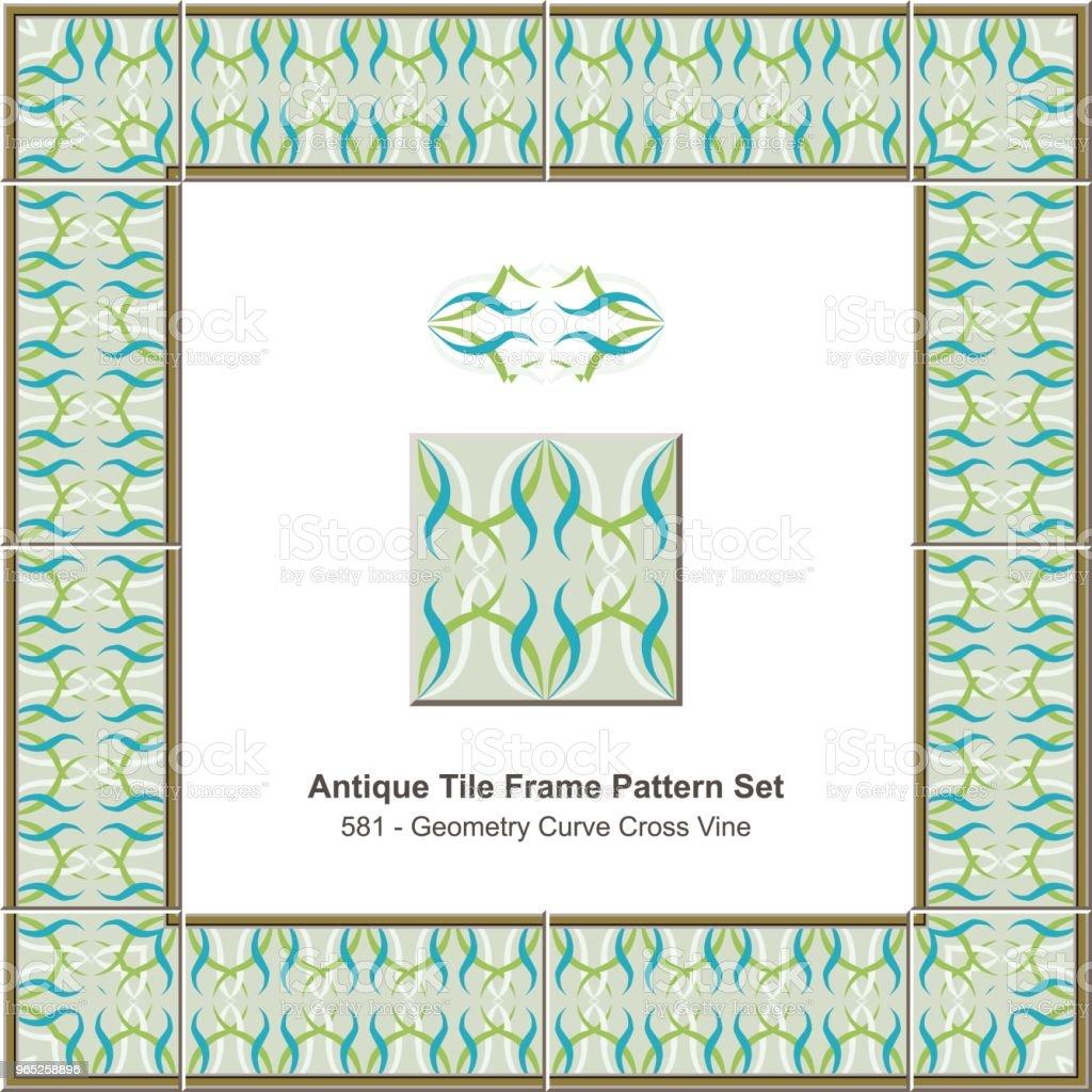 Antique tile frame pattern set geometry curve cross vine royalty-free antique tile frame pattern set geometry curve cross vine stock vector art & more images of antique