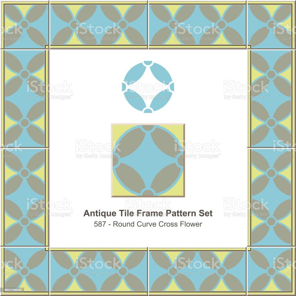 Antique tile frame pattern set geometry round cross flower royalty-free antique tile frame pattern set geometry round cross flower stock vector art & more images of antique
