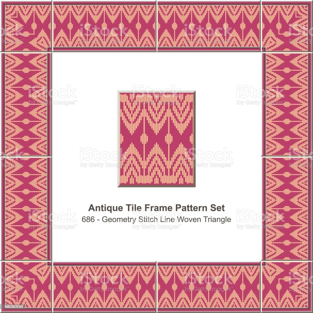 Antique tile frame pattern set geometry stitch line woven triangle royalty-free antique tile frame pattern set geometry stitch line woven triangle stock vector art & more images of antique