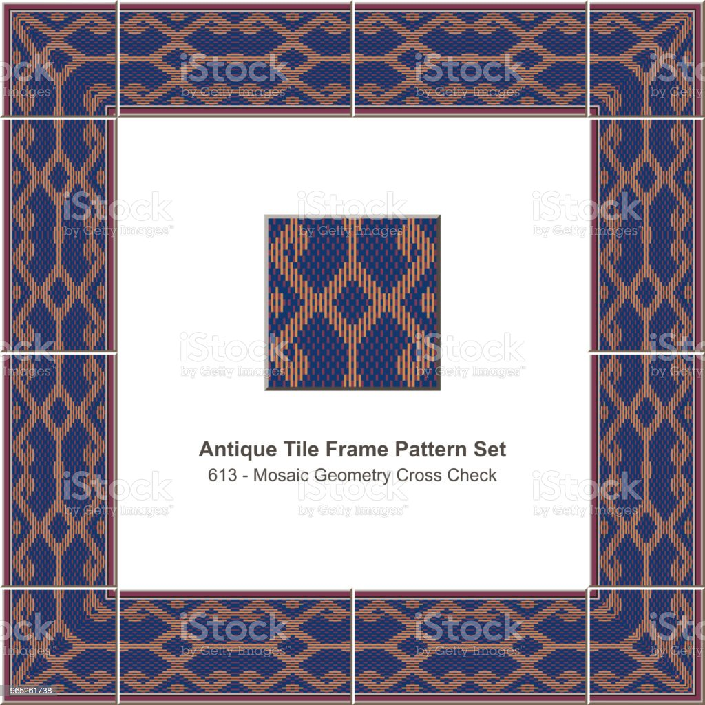 Antique tile frame pattern set mosaic geometry cross check royalty-free antique tile frame pattern set mosaic geometry cross check stock vector art & more images of antique