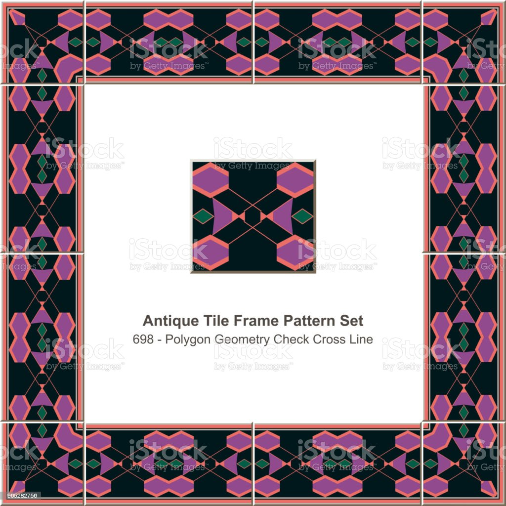 Antique tile frame pattern set polygon geometry check cross line royalty-free antique tile frame pattern set polygon geometry check cross line stock vector art & more images of antique
