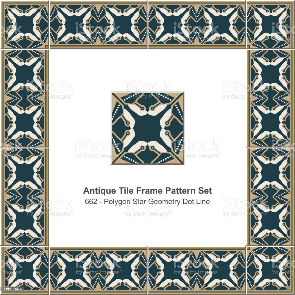 Antique tile frame pattern set polygon star geometry dot line kaleidoscope royalty-free antique tile frame pattern set polygon star geometry dot line kaleidoscope stock vector art & more images of antique