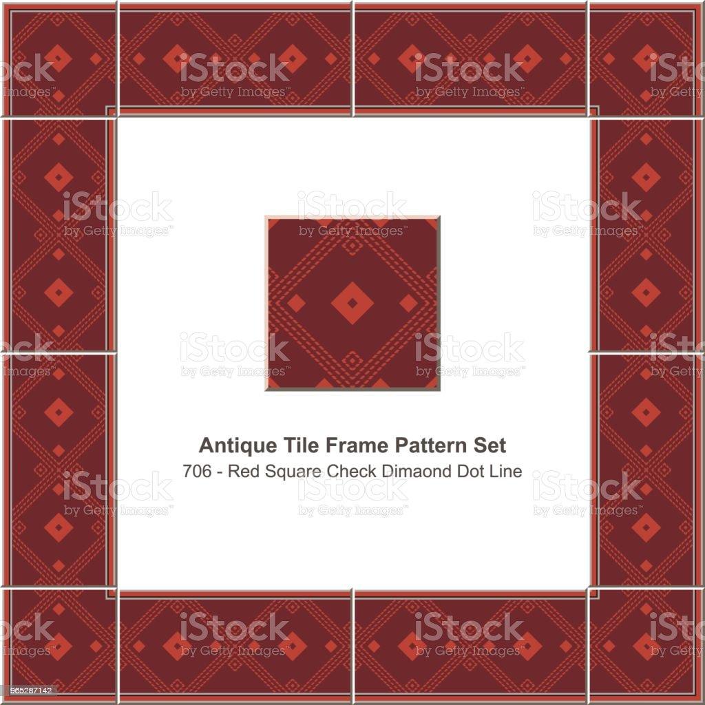 Antique tile frame pattern set red square check diamond dot line royalty-free antique tile frame pattern set red square check diamond dot line stock vector art & more images of antique