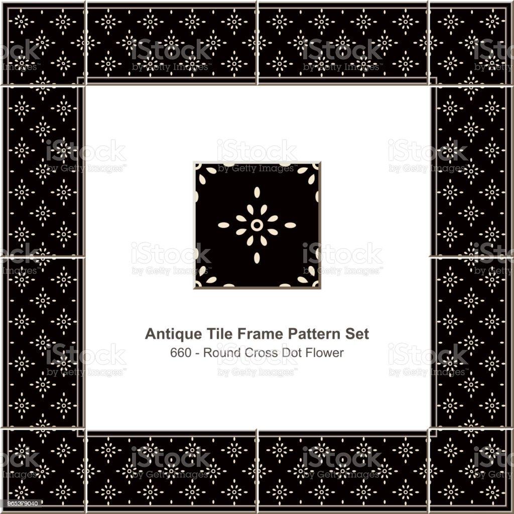 Antique tile frame pattern set round cross dot flower royalty-free antique tile frame pattern set round cross dot flower stock vector art & more images of antique
