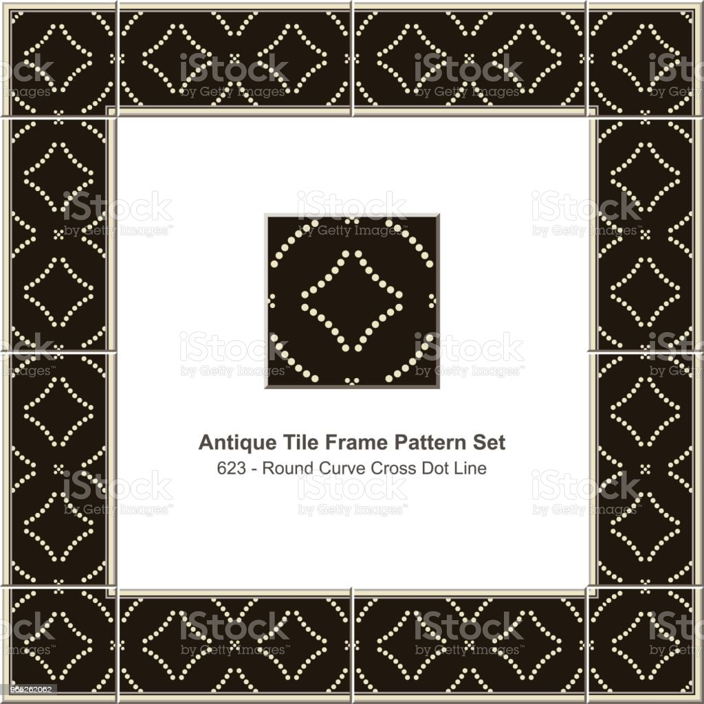 Antique tile frame pattern set round curve cross dot line royalty-free antique tile frame pattern set round curve cross dot line stock vector art & more images of antique