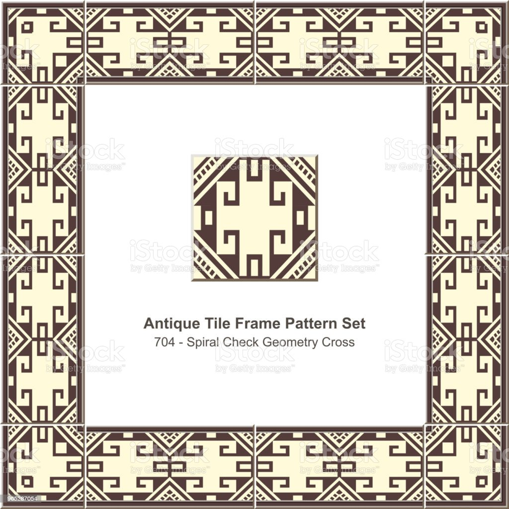 Antique tile frame pattern set spiral check geometry cross chain royalty-free antique tile frame pattern set spiral check geometry cross chain stock vector art & more images of antique