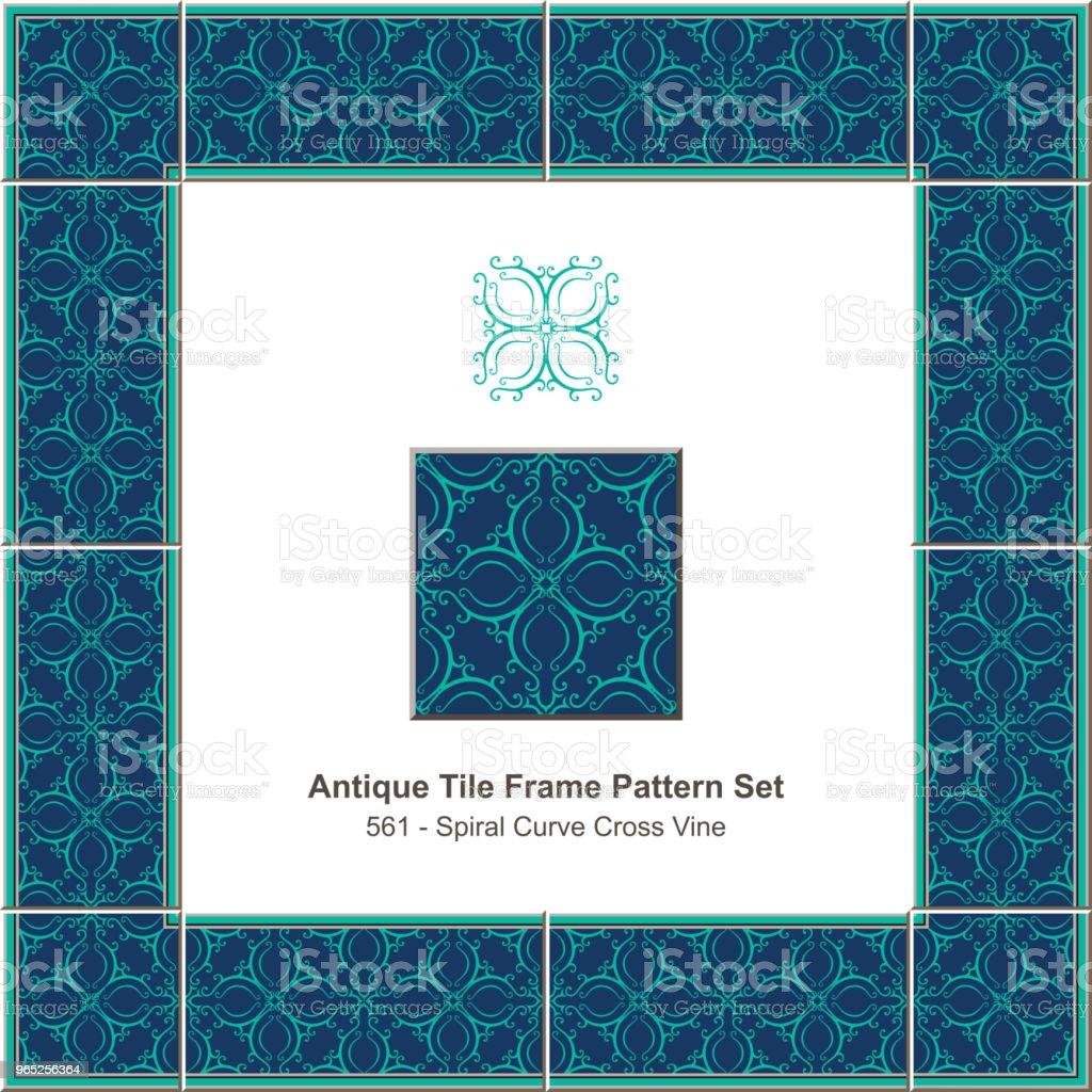 Antique tile frame pattern set spiral curve cross vine kaleidoscope royalty-free antique tile frame pattern set spiral curve cross vine kaleidoscope stock vector art & more images of antique