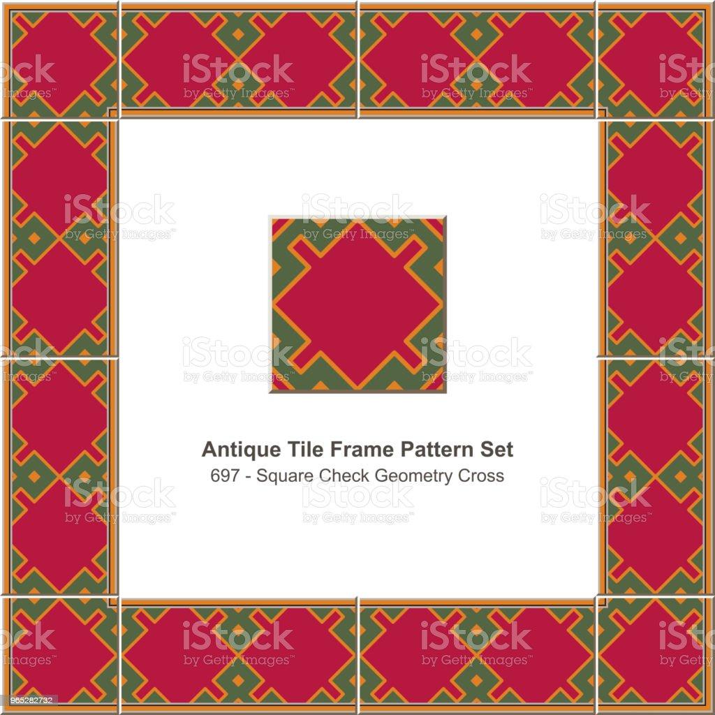 Antique tile frame pattern set square check geometry cross royalty-free antique tile frame pattern set square check geometry cross stock vector art & more images of antique