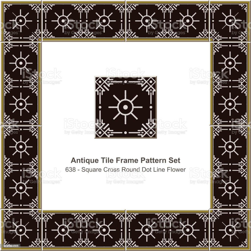 Antique tile frame pattern set square cross round dot line flower royalty-free antique tile frame pattern set square cross round dot line flower stock vector art & more images of antique