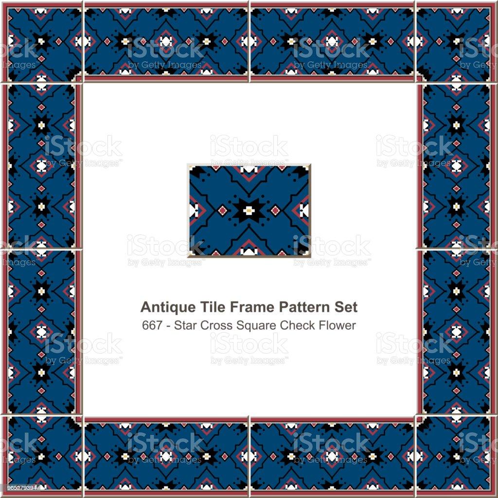 Antique tile frame pattern set star cross square check flower royalty-free antique tile frame pattern set star cross square check flower stock vector art & more images of antique