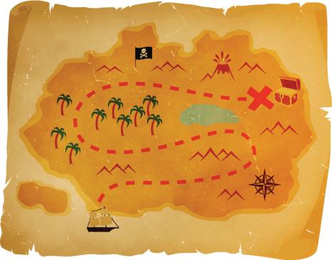 Antique treasure map