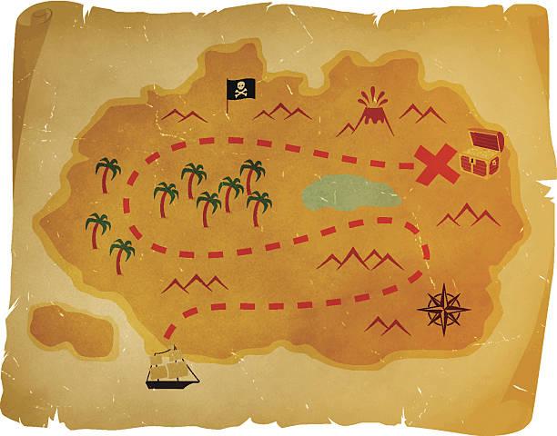 ilustrações, clipart, desenhos animados e ícones de antigo mapa do tesouro - mapas de tesouro