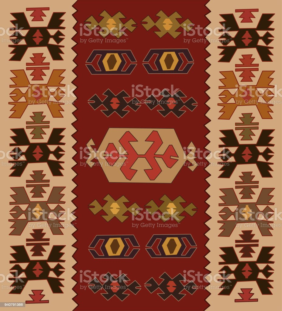 Antique Turkish Carpet Pattern Royalty Free Stock Vector Art Amp